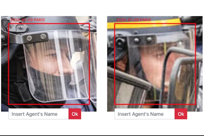 L'artiste italiien Paolo Cirio a créé une base de données pour identifier 4000 visages de policiers français. (Crédit Photo: Paolo Cirio)