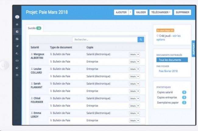 Le portail MyPeopleDoc donne accès à un coffre-fort de documents RH accessible gratuitement, à vie, par les collaborateurs d'une entreprise. (Crédit : PeopleDoc/UKG)