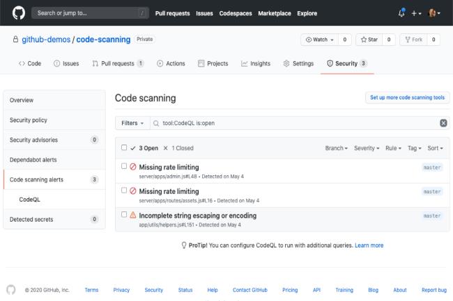 Le service de scan de code est maintenant disponible pour tous. (Cr�dit Photo : GitHub)