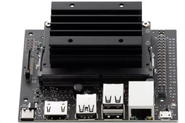 La mini carte-mère Jetson Nano à 59$ de Nvidia doit répondre aux usages IoT et IA en environnement Edge. (crédit : Nvidia)