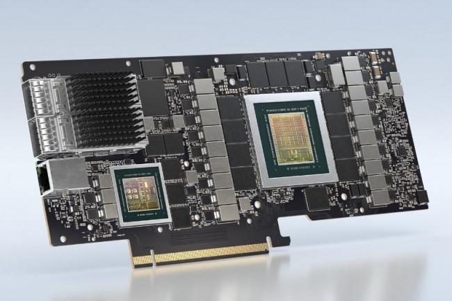 Le dernier DPU � base de BlueField-2 de Nvidia repose sur une architecture ARM Cortex-A72 et dispose de circuits d'acc�l�ration optimis�s pour des t�ches de s�curit�. (cr�dit : Nvidia)