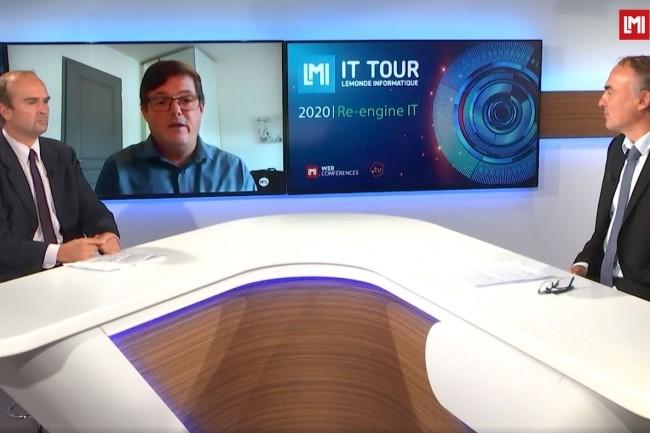 Emmanuel Peyrat, responsable SI au Groupe La Poste intervient sur l'IT Tour web TV Pays de la Loire 2020 pour évoquer le projet et la mise en place de DevOps dans son organisation. (crédit : LMI)