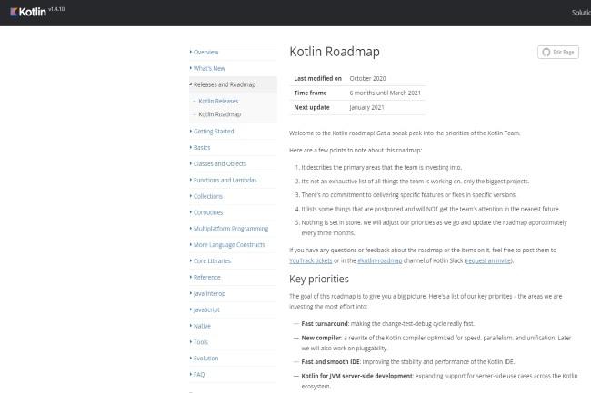 La roadmap de Kotlin a été présentée et prévoit une réécriture du compilateur. (Crédit Photo : Kotlin)