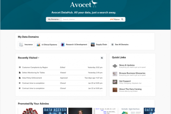 Les clients d'Alation peuvent désormais personnaliser leur page d'accueil research avec leur charte graphique. (Crédit Alation)