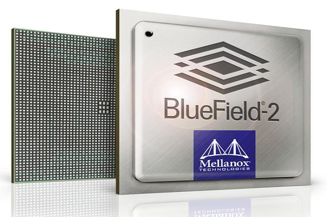 Héritage Mellanox, le contrôleur BlueField-2 vient épauler le processeur principal pour le traitement des paquets réseau. (Crédit Nvidia)