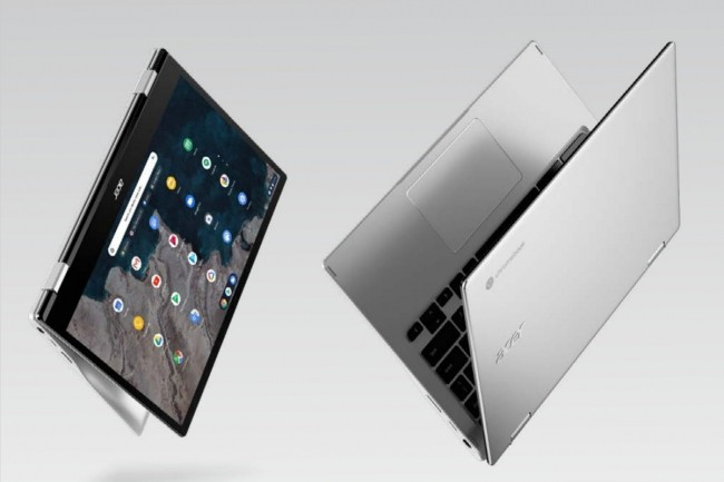Avec un poids de 1,3 kg sur la balance, l'Acer Spin 5 reste facilement transportable. (Crédit Acer)