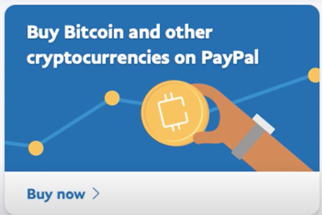 PayPal propose à ses clients la gestion de crypto-monnaies à partir de leurs comptes existants. (Crédit Paypal)