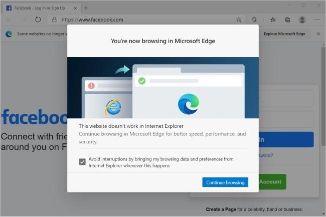 Microsoft peaufine sa stratégie pour accélérer la migration des utilisateurs d'IE vers son navigateur Edge. (Crédit Photo : Microsoft)