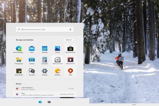 Microsoft pourrait s'inspirer du menu démarrer de Windows 10X pour une prochaine mise à jour de Windows 10. (Crédit Photo : Microsoft)