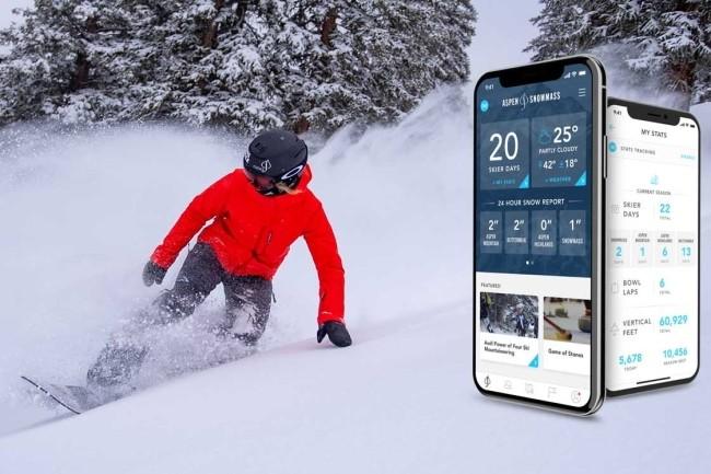 L'application mobile du domaine skiable Aspen est la réponse aux contraintes liées au Covid-19. (Crédit Photo : Aspen Skiing)