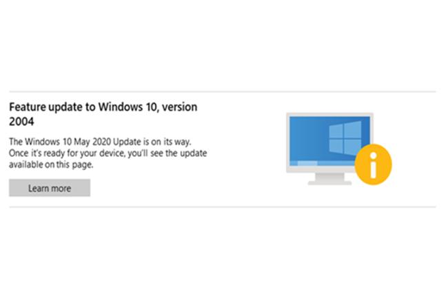 Si Microsoft autorise les admins à forcer les mises à jour fonctionnelles de Windows 10, il les alerte sur les risques potentiels. (Crédit Photo : Microsoft)