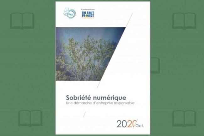 Après un an de travaux, le Cigref a publié son rapport sur la sobriété numérique. (crédit : Cigref)