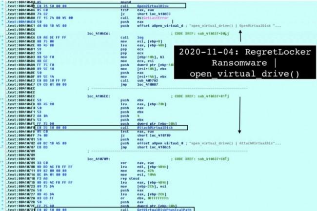 Le rançongiciel NewRegret s'attaque aux machines virtuelles Windows qu'il est en temps normal compliqué de chiffrer étant donné leur taille. (crédit : MalwareHunterTeam)