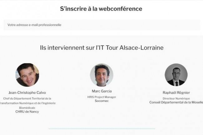 La web conférence IT Tour web TV 2020 Alsace Lorraine sera diffusée le 26 novembre. (crédit : LMI)