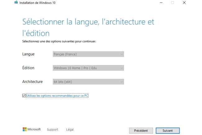 Le script Universal MCT Wrapper propose de créer une image de différentes versions de Windows 10 (Crédit Photo : DR)