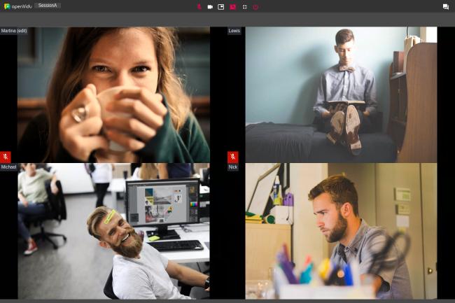 Face à un télétravail qui se standardise, les entreprises regardent les solutions open source de vidéoconférence. (Crédit Photo: OpenVidu)