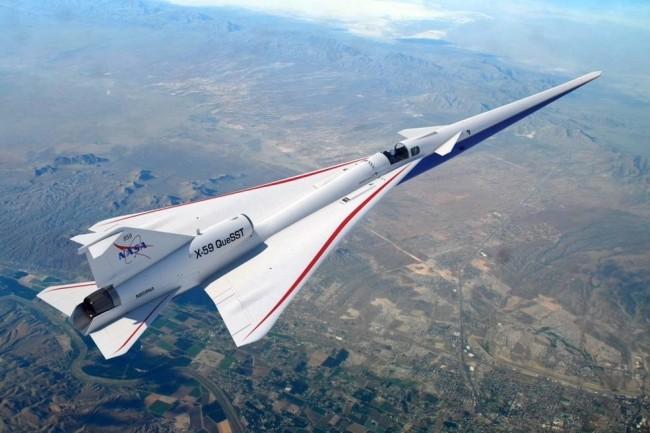 Pour équiper le futur avion supersonique X-59, la Nasa travaille sur un câble réseau pouvant supporter le passage du mur du son. (Crédit Photo : Nasa)