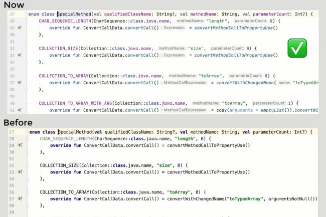 L'ouverture d'un gros fichier Kotlin pour la première fois est beaucoup plus rapide pour l'affichage de son contenu. (Crédit Kotlin)