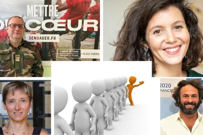 Retrouvez nos témoins pour parler marque enployeur le 8 décembre. De gauche à droite, O.Destefanis Armée de Terre, S.Ben Allel Qonto, C.Guillot-Soulez IAE Lyon et L.Labbé Choosemycompany. (Photos DR/Pixabay)