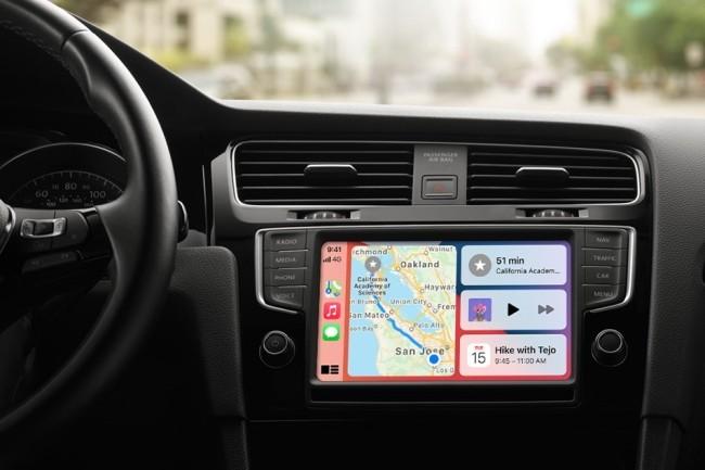 Microsoft a ajouté dans Teams, le support de CarPlay d'Apple. (Crédit Photo : Apple)