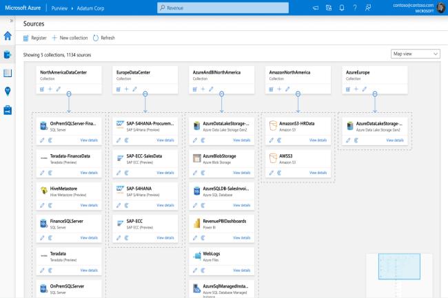 Purview sur Azure propose de cataloguer, suivre, rechercher et gérer les données. (Crédit Photo: Microsoft)