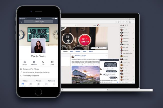 Pour les utilisateurs existants de Workplace Essential, la décision de Facebook d'arrêter la version gratuite du RSE pourrait avoir un impact sur leur volonté de migrer vers l'option payante. (crédit : Facebook)