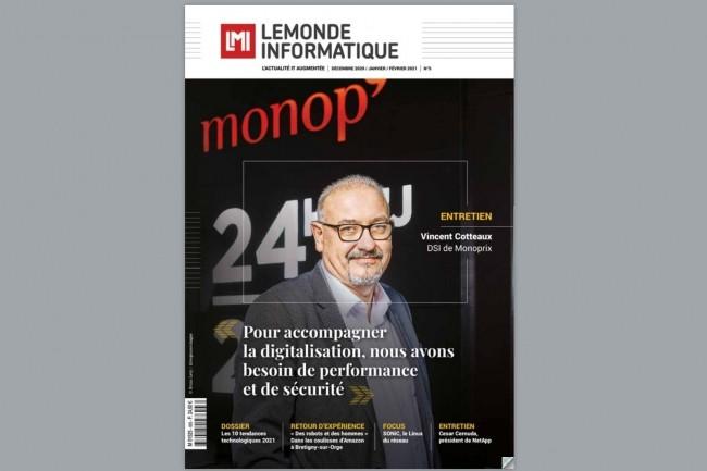 En couverture Vincent Cotteaux, le DSI de Monoprix, qui détaille l'organisation du groupe et explique les évolutions apportées récemment au SI.