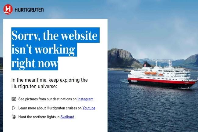 Le site de Hurtiguten n'était toujours pas disponible après une