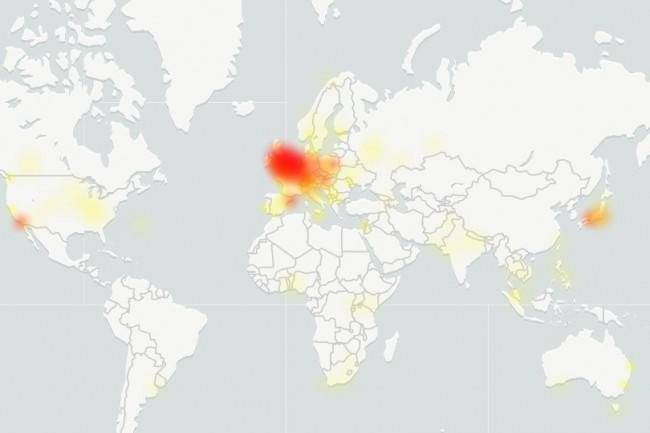 La dernière panne affectant Gmail affecte des utilisateurs partout dans le monde. (crédit : Downdetector)