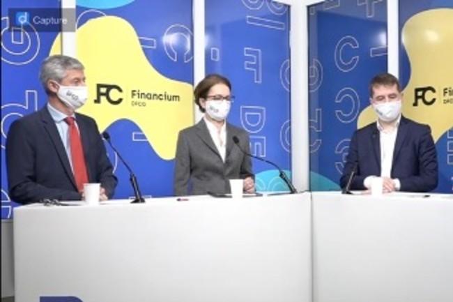 Le risque cyber devient une priorité pour les DAF, avec le pilotage de la performance et la gestion de trésorerie. (de G à droite, Franck Lemery, Legrand; Judith Hartmann, Engie et Laurent Morel, PWC, à l'occasion du Financium de la DFCG)