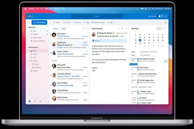 Microsoft a rapidement adapté son offre Office pour être supporté nativement par les récents MacBook équipés de la puce M1 (Crédit Photo: Microsoft)