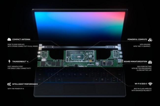 Pour inciter les entreprises à commander des PC Evo, Intel et ses partenaires vont mettre en avant les bénéfices du coprocesseur IA Clover Falls. (Crédit Intel)