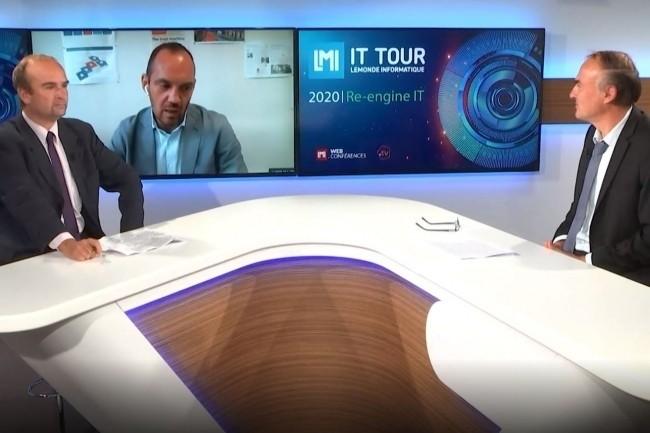 Sébastien Valla, DSI de Saint Etienne, a été le grand témoin de l'IT Tour Web TV 2020 Auvergne Rhône-Alpes. (crédit : LMI)
