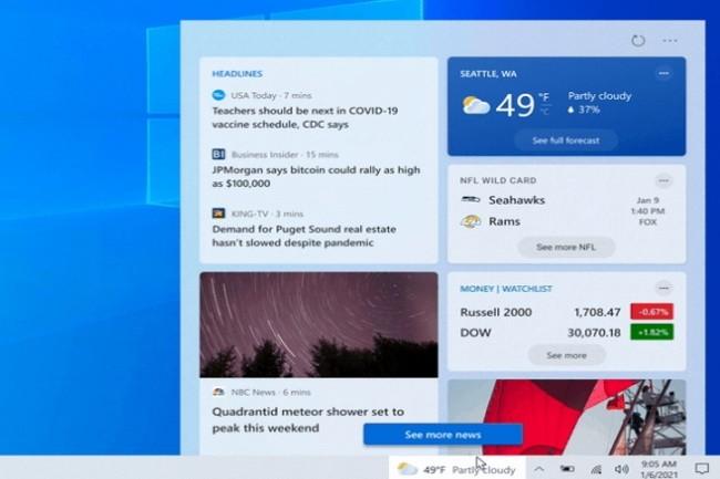 Microsoft poursuit ses tests pour l'enrichissement de l'UI de Windows 10. (Crédit Photo: Microsoft)