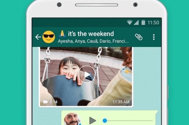 Les utilisateurs de WhatsApp en dehors des frontières européennes accepteront-ils de partager encore davantage de données personnelles avec Facebook et ses partenaires tiers ? (crédit : WhatsApp)