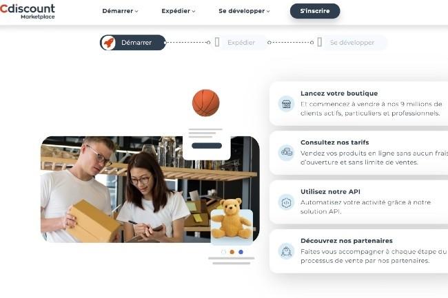 Cdiscount va proposer aux commer�ants la technologie, les produits, la logistique de sa plateforme et un accompagnement. (Photo Cdiscount)
