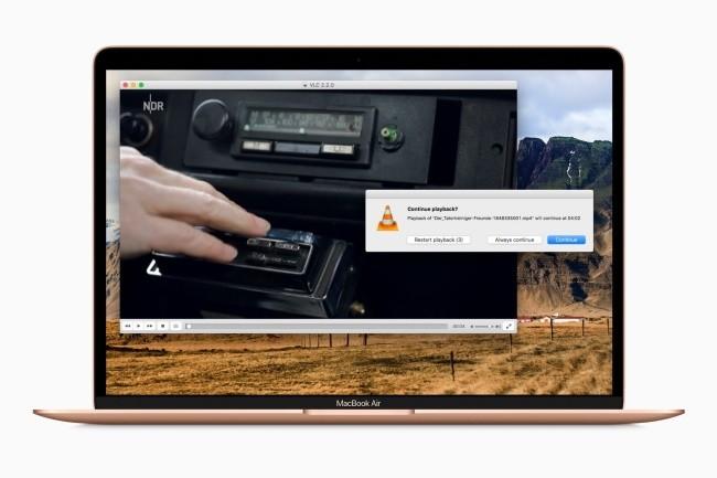 VLC est maintenant disponible nativement sur les terminaux Apple équipés de la puce M1. (Crédit Photo : DR)