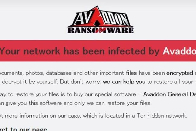 Le cybergang Avaddon incite les victimes de ransomware à payer au plus vite en doublant leur attaque par du déni de service. (crédit : D.R.)