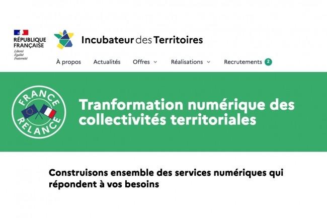 De fin janvier à mi-mars 2021 le recueil des services numériques existants et des besoins des collectivités territorialesse feraà travers la plateforme de consultation en ligneIncubateur des Territoires. (Crédit : Gouvernement)