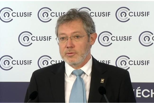 Secr�taire g�n�ral du Clusif, Lo�c Gu�zo a introduit la pr�sentation du Panocrim 2020. (Cr�dit photo: Clusif)