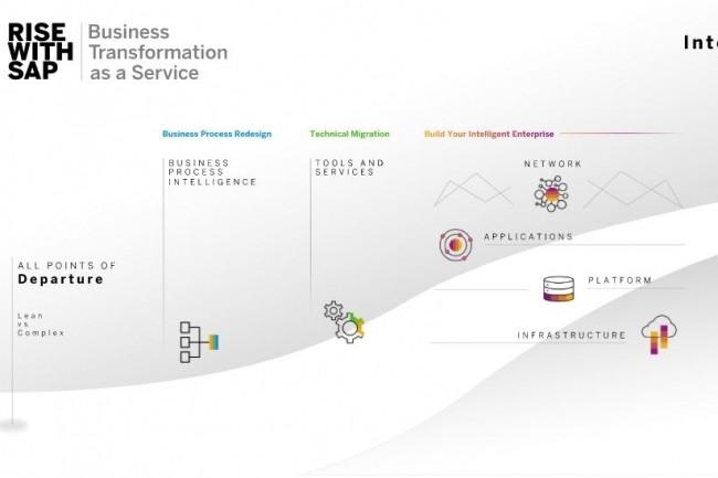 Rise with SAP intègre des services techniques pour faciliter la migration vers un environnement de solutions standards. (Crédit SAP)