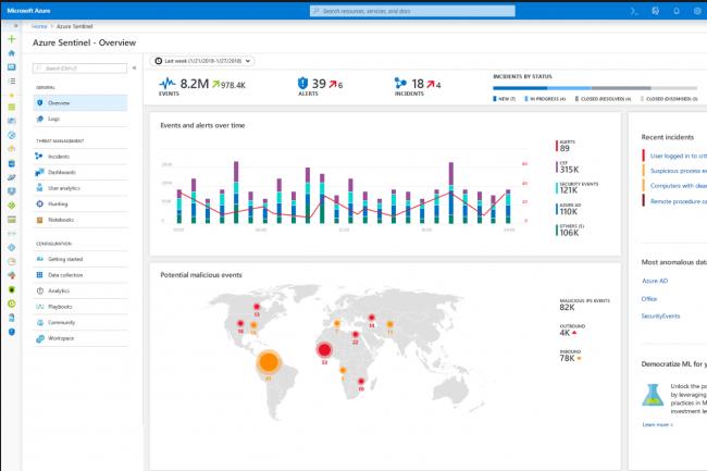 Microsoft Sentinel montre la rapidit� avec laquelle le fournisseur �volue dans le domaine de la cybers�curit�. (Cr�dit Microsoft)