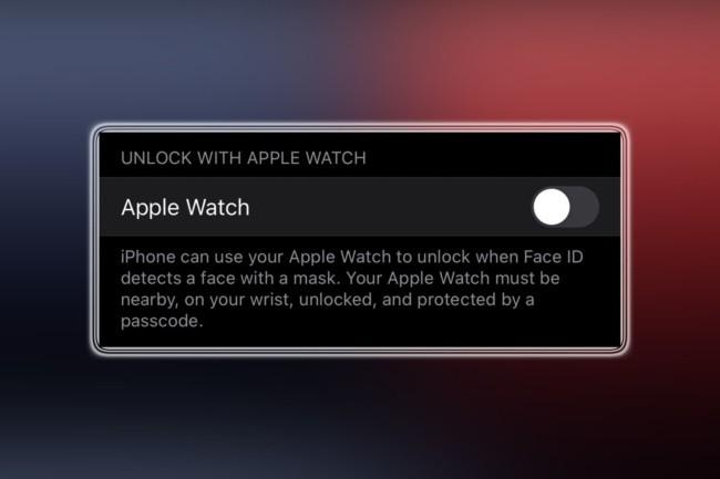 Apple teste dans iOS 14.5 une fonctionnalité autorisant la Watch à débloquer l'iPhone via FaceID. Utile quand on porte un masque. (Crédit Photo : IDG)