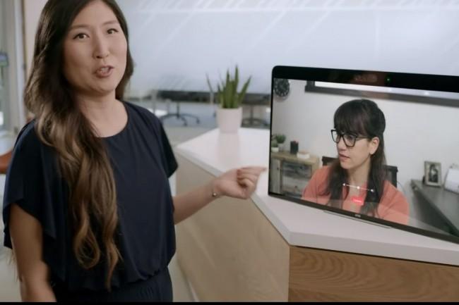 Zoom apporte avec la fonction Kiosk de son produit Rooms l'accueil d'hôtes à distance. (crédit : Zoom)