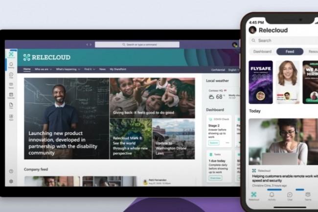 Microsoft a apporté un soin particulier en termes de design et d'expérience utilisateur dont le flux de données de Viva Connections . (crédit : Microsoft)