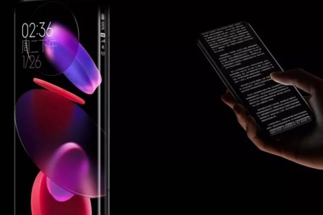 Xiaomi propose un concept de smartphone bordeless original. (cr�dit : Xiaomi)