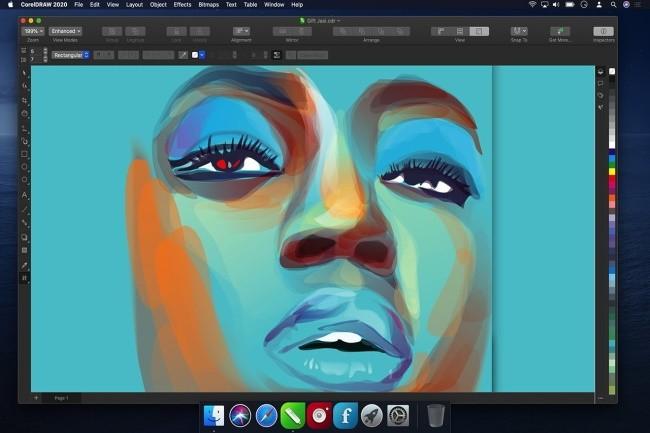 La suite CorelDraw Graphics 2020 pour Mac mise beaucoup sur l'IA et sur la collaration. (Crédit Photo: Corel)