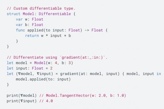 L'équipedu projet Swift for TensorFlow estimait les paradigmes d'apprentissage automatiqueméritaientun langage de programmation « de premier ordre » et un support de compilateur. (Crédit : TensorFlow.org)