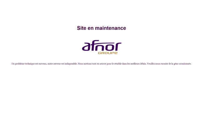 Le site Internet de l'Afnor est indisponible. (Crédit Photo: DR)