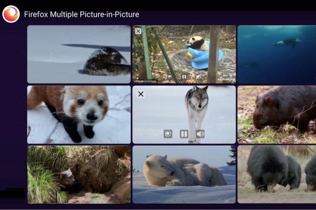 En dehors du renforcement des protections anti-cookies, Firefox 86 permet maintenant de visionner plusieurs vidéos en même temps. (Crédit : Mozilla)